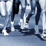 Marathon runners — Stock Photo