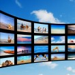 modern tv screens panel — Stock Photo #5201690