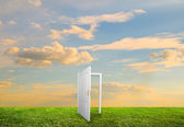 Open door to new life — Stock Photo