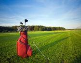 снаряжение для гольфа — Стоковое фото