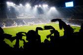 Fans celebrating goal — Stock Photo