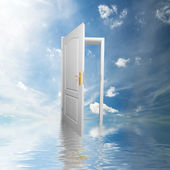 Door to new world. Hope, success, new way concepts — Stock Photo