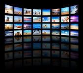 Modern TV screens panel — Stockfoto