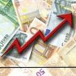 Euro growth — Stock Photo
