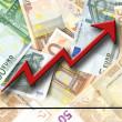 Euro growth — Stock Photo