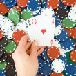 Gambling chips and cards — Stock Photo #5041773