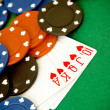 Heart poker - Stock Photo