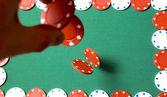Gambling chips falling — Stock Photo