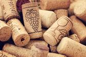 葡萄酒瓶塞背景 — 图库照片