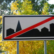 City sign — Foto Stock