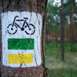 Bicycle sign — Stockfoto