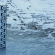 Stock Photo: Water level indicator