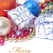 Christmas decoration with space for your text — Stock Photo