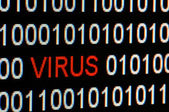 Closeup of binary code infected by computer virus. — Stock Photo