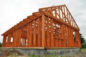 Husbyggnad — Stockfoto
