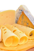 Various types of cheese composition isolated — Stock Photo