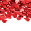 Red hearts confetti isolated — Stock Photo #4653060