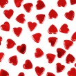 Stock Photo: Red hearts confetti isolated