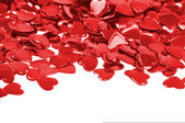 Red hearts confetti isolated — Stock Photo