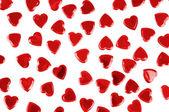Confeti corazones rojos aislado — Foto de Stock