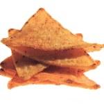 nachos messicani isolato su sfondo bianco — Foto Stock