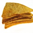 Mexican nachos isolated on a white background — Stock Photo
