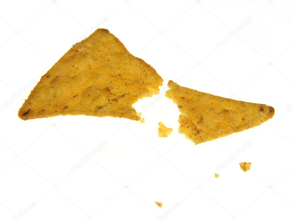 Mexican nachos isolated on a white background  — Stock Photo #4665155
