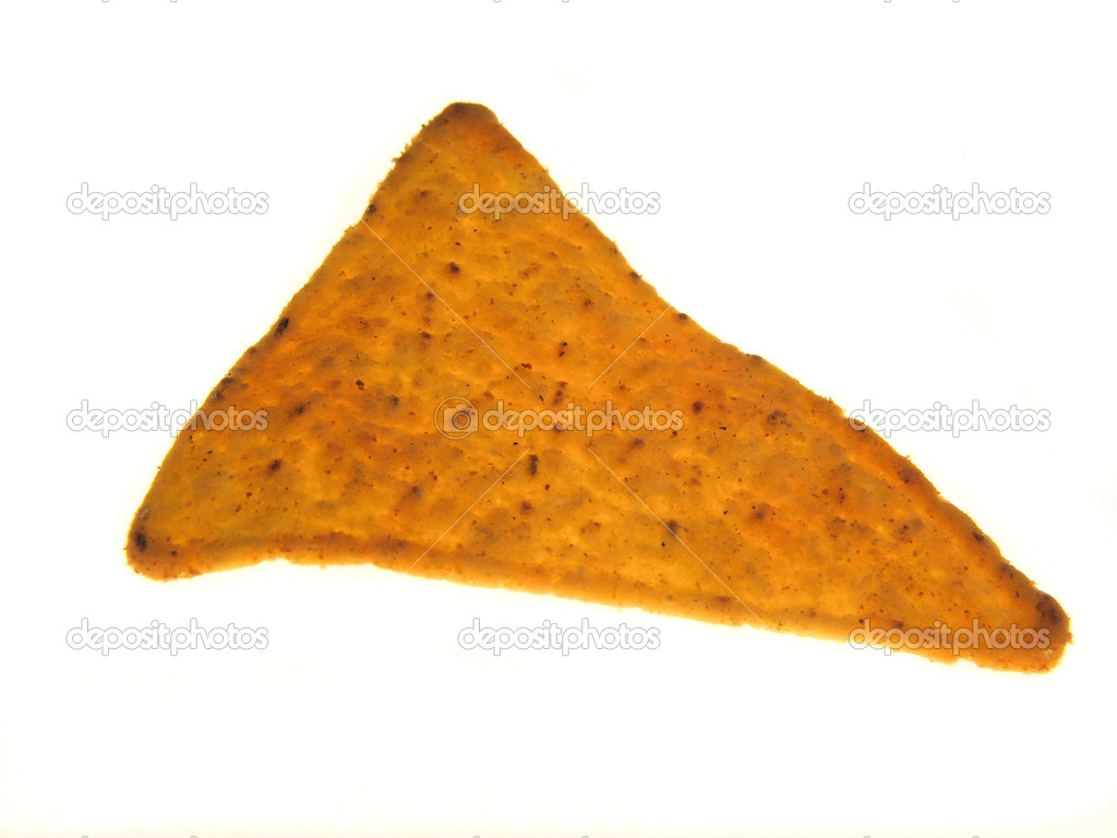 Mexican nachos isolated on a white background  — Stock Photo #4665160
