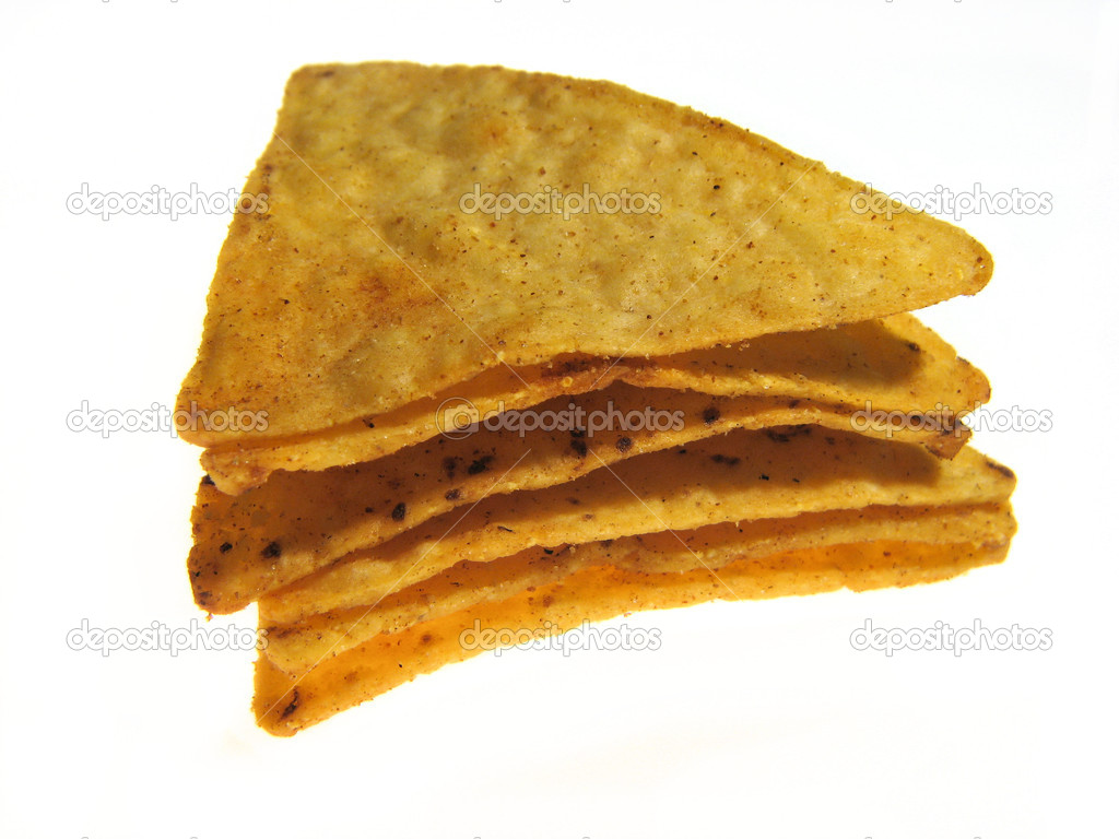 Mexican nachos isolated on a white background  — Foto Stock #4665168