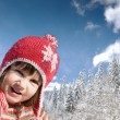 Baby on snow — Stock Photo