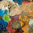 Stock Photo: Closeup of artists palette with mixed oil paint
