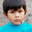 Little boy portrait at the street — Stock Photo