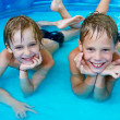 Happiness children at pool — Foto de Stock