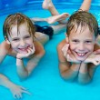 Happiness children at pool — Stock fotografie