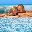 Happy couple on vacation — Stockfoto