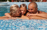 Happy family on vacation — Stockfoto
