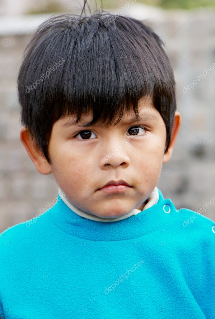 Little boy portrait at the street  Stock Photo #5343731