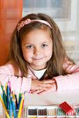 Portrait adorable little girl — Stock Photo