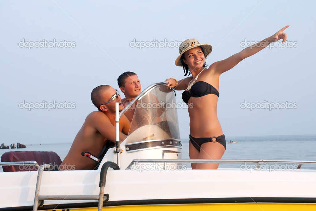 Happy youth having a rest on a vacation  — Stock Photo #5350318