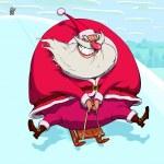 Sliding Santa Claus — Stock Vector