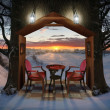 Winter Evening - Stock Photo