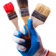 Royalty-Free Stock Photo: Hand and brushes