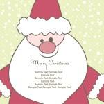 Christmas card with Santa. Vector illustration — Stock Vector #3943903