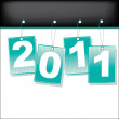 Labels for 2011 year. Vector illustration — Stock Vector