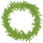 Christmas Wreath. Vector illustration — Stock Vector