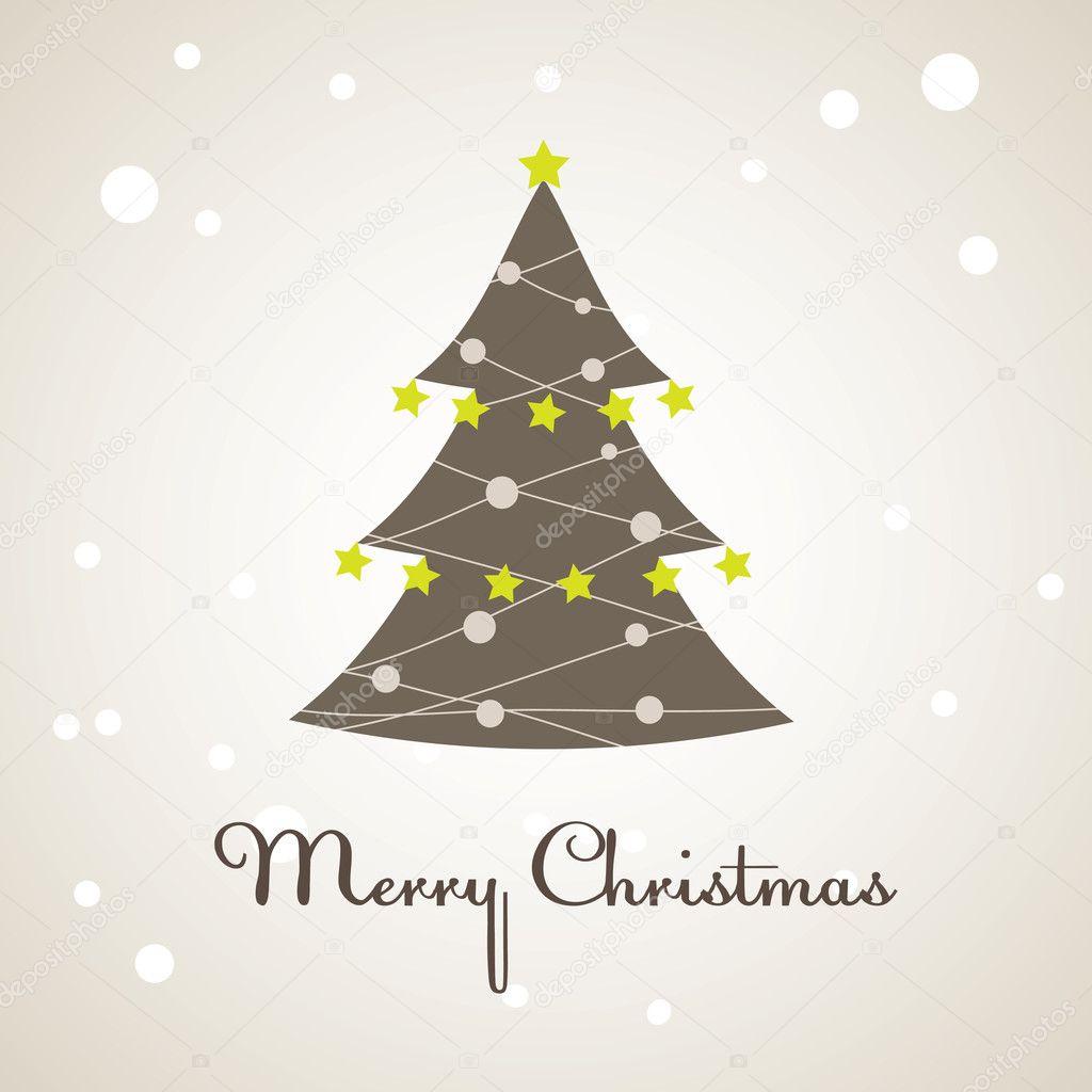 圣诞树装饰.矢量插画