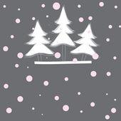 Christmas tree. Vector illustration — Stock Vector