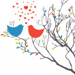 Background with birds. Vector illustration — Stock Vector #4801528