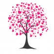 Stock Vector: Tree with hearts. Vector illustration