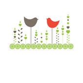 Background with birds. Vector illustration — Stock Vector